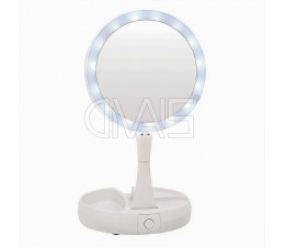 Specchio trucco con led e zoom